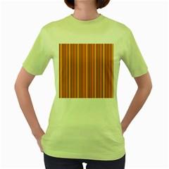 Lines Women s Green T-Shirt