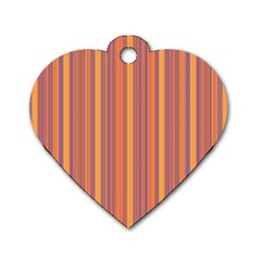 Lines Dog Tag Heart (Two Sides)