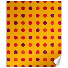 Polka dots  Canvas 8  x 10