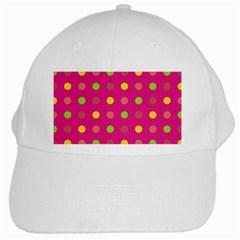 Polka dots  White Cap