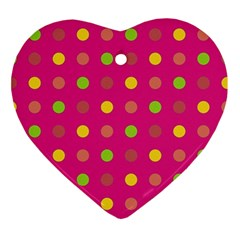 Polka dots  Ornament (Heart)