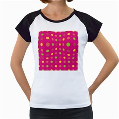 Polka dots  Women s Cap Sleeve T