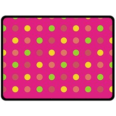Polka dots  Fleece Blanket (Large)