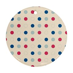 Polka dots  Round Ornament (Two Sides)