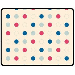 Polka dots  Fleece Blanket (Medium)