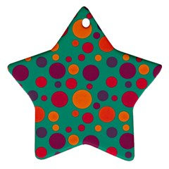 Polka dots Star Ornament (Two Sides)