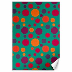 Polka dots Canvas 12  x 18