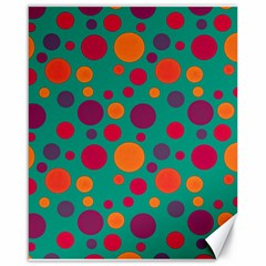 Polka dots Canvas 16  x 20