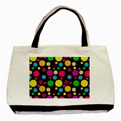Polka dots Basic Tote Bag (Two Sides)