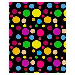 Polka dots Drawstring Bag (Small)