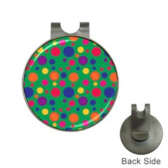 Polka dots Hat Clips with Golf Markers