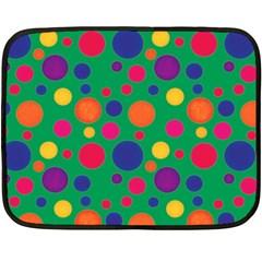 Polka dots Fleece Blanket (Mini)
