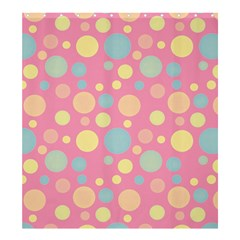 Polka dots Shower Curtain 66  x 72  (Large)