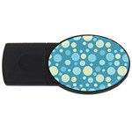 Polka dots USB Flash Drive Oval (4 GB) Front