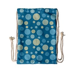 Polka dots Drawstring Bag (Small)