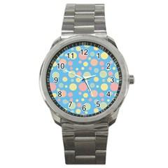 Polka dots Sport Metal Watch