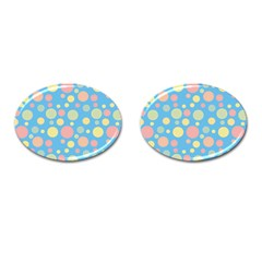 Polka dots Cufflinks (Oval)