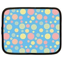 Polka dots Netbook Case (XL)