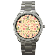 Polka dots Sport Metal Watch
