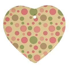 Polka dots Heart Ornament (Two Sides)