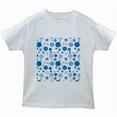 Polka dots Kids White T-Shirts