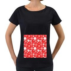 Polka dots Women s Loose-Fit T-Shirt (Black)