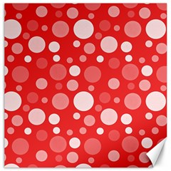 Polka dots Canvas 16  x 16