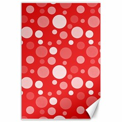 Polka Dots Canvas 24  X 36