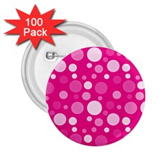 Polka dots 2.25  Buttons (100 pack)