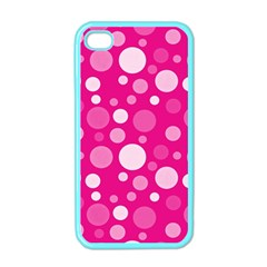 Polka Dots Apple Iphone 4 Case (color)