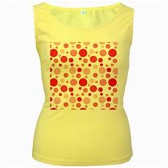 Polka dots Women s Yellow Tank Top