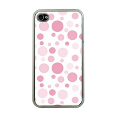 Polka Dots Apple Iphone 4 Case (clear)