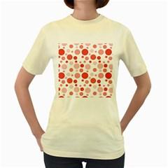 Polka dots Women s Yellow T-Shirt