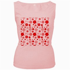 Polka dots Women s Pink Tank Top