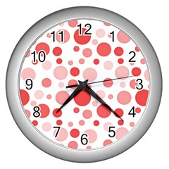 Polka dots Wall Clocks (Silver)