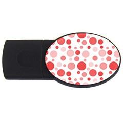 Polka dots USB Flash Drive Oval (4 GB)