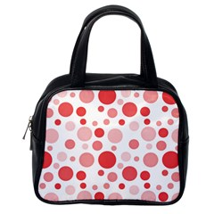 Polka dots Classic Handbags (One Side)