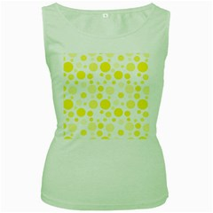 Polka dots Women s Green Tank Top