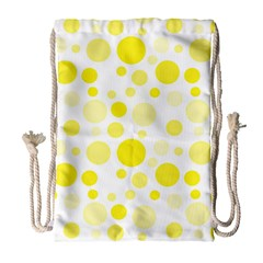 Polka dots Drawstring Bag (Large)