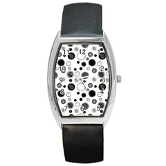 Polka dots Barrel Style Metal Watch
