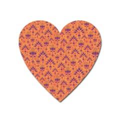 Pattern Heart Magnet