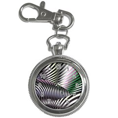 Fractal Zebra Pattern Key Chain Watches