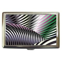 Fractal Zebra Pattern Cigarette Money Cases