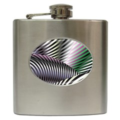 Fractal Zebra Pattern Hip Flask (6 Oz)