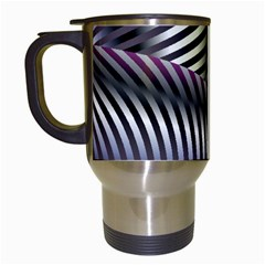 Fractal Zebra Pattern Travel Mugs (white)
