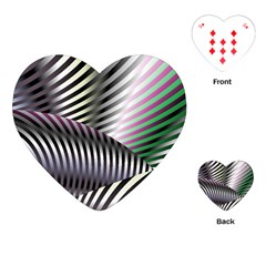 Fractal Zebra Pattern Playing Cards (Heart)