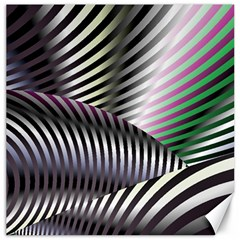 Fractal Zebra Pattern Canvas 12  X 12