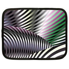 Fractal Zebra Pattern Netbook Case (Large)