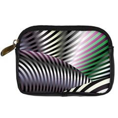 Fractal Zebra Pattern Digital Camera Cases