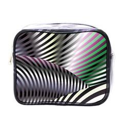 Fractal Zebra Pattern Mini Toiletries Bags